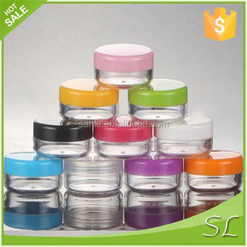 Cosmetic plastic jars with lid for sale
