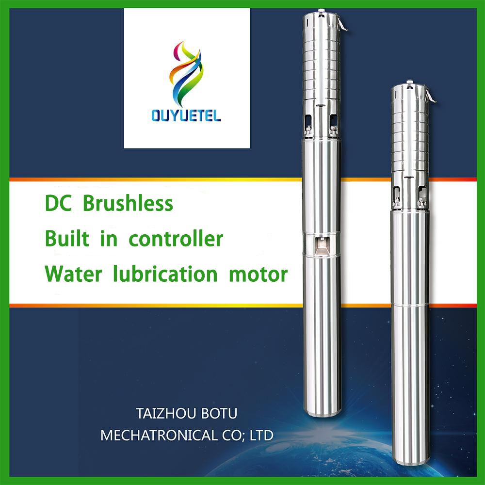 submersible solar water pump high flow AC&DC working pump with permanent magnet motor