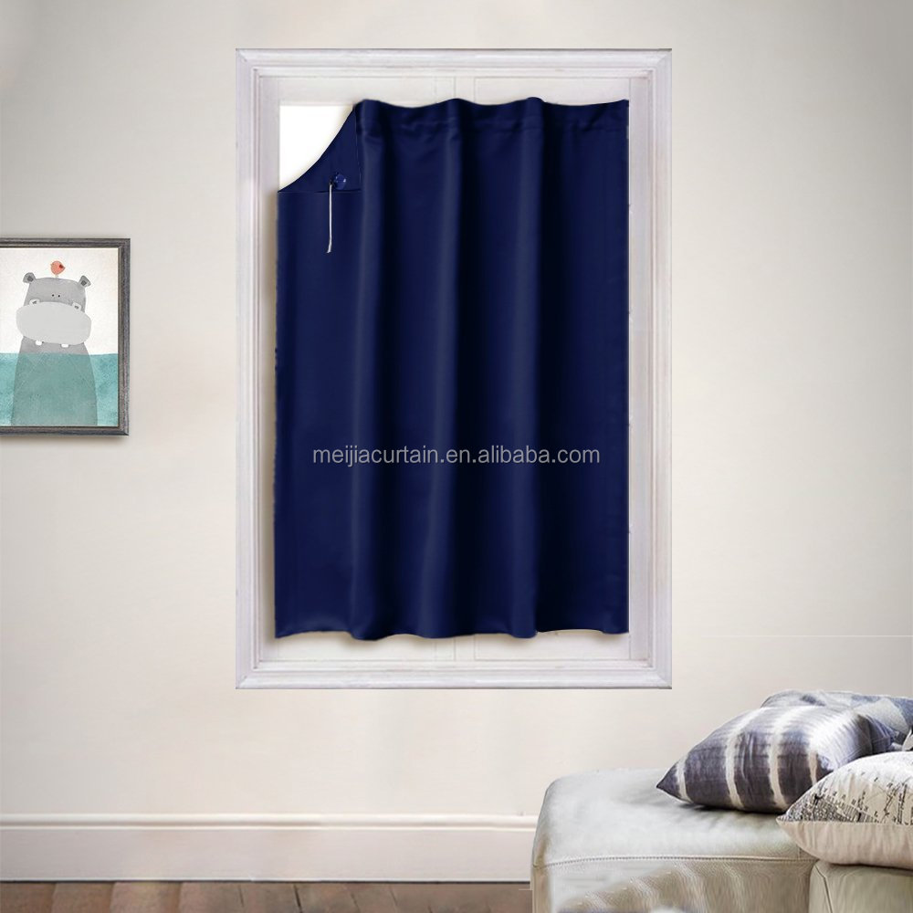Window Curtain Blackout Blind for Travel Thermal Insulated Blackout Window Treatment Adjustable Portable Blind