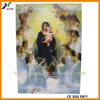 Wholesale cheap customized PP/PET 3d religious calendar