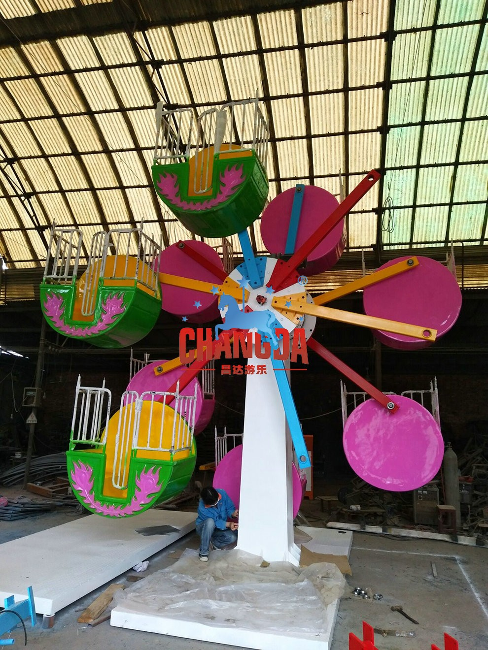 24 seats mini fairground rides small FERRIS WHEEL for sale for kids