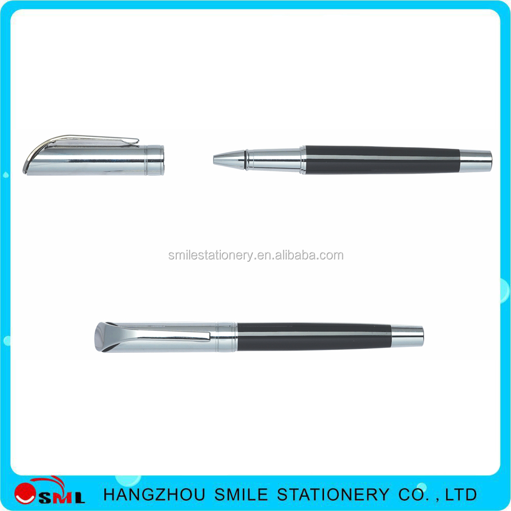 Promtion metal ball pen with parker ink metal pen holder clip with logo