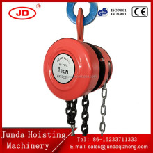 Junda hand operated HSZ 1 ton 2 ton 3 ton chain pulley block hand chain block