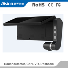 Aisino Dashcam Dual Camera car DVR for Automobile Truck WiFi & GPS front viewing angle 160 degree