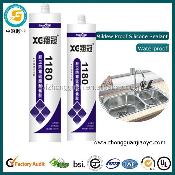 Transparent silicone adhesive for glass and metal ultra violet