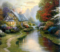 Famous Village Scenery Oil paintings of Thomas Kinkade