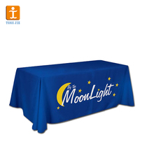Cheap fabric coffee table linen tablecloths for advertising
