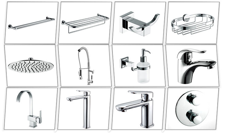 Wall Mounted Single Fine Lever Bath Shower Sink Mixer Taps