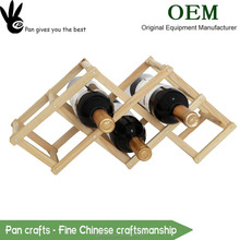 Pan unique design hotsale wood red wine bottle display rack , beer stopper holder