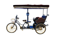 CE China factory made electric 3 wheel taxi bike rickshaw bicycle for passengers
