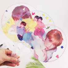Kpop Stars TXT Transparent Round Plastic Hand Fan Summer Hotsale Fans <strong>Gifts</strong>