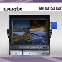 "7"" DVR recording car lcd monitor with 4 way video inputs"