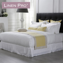Hotel linen new arrival wholesale luxury 5 star bedding set+60s 300t sateen hotel linen+hotel supplies for bed linen producer