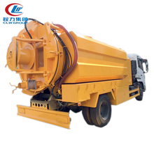 Dongfeng 4x2 suction sewer cleaning truck vacuum sewage suction truck