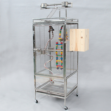 stainless steel large parrot cage for sale C02