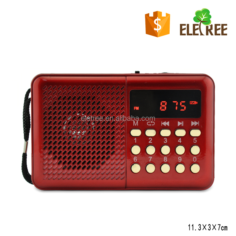 JOC WHOLESALE For Promotion Compact Digital Mini FM Radio Player with USB/SD/TF Card (EL-055U)