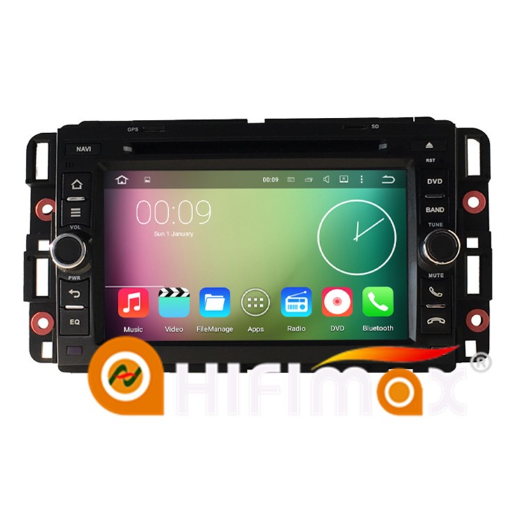HIFIMAX Android 5.1.1 car gps navigation for Chevrolet Tahoe 2007--2012 WITH quad core 16G touch screen 1080P 3G WIFI OBD2