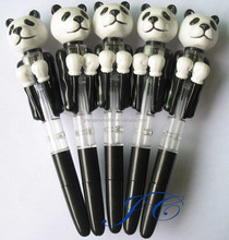 2015 best selling panda shaped plastic ball pen
