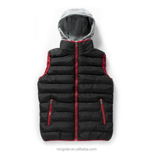 Classic and fashion fashionable vest with fleece hoood for mens