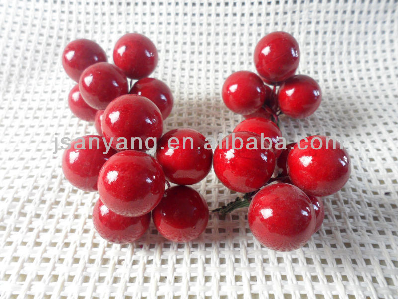 artificial fruit,artificial Red round berries