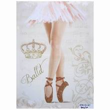 glitter finish ballerina home wall art digital printing canvas roll picture