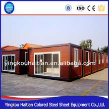 diy Prefab modified renovated sea shipping knock down steel container house
