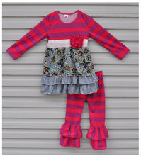 fall winter long sleeve top and pant persnickety remake kids ruffle outfits
