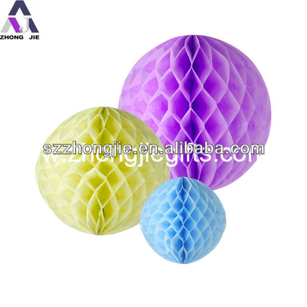 colorful honeycomb paper ball