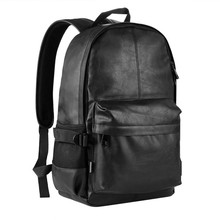Free Samples Men Leather Backpacks School Bag with Custom Logo