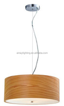 Contemporary European Contracted Modern Simple Household Nature Wood Pendant Lamp