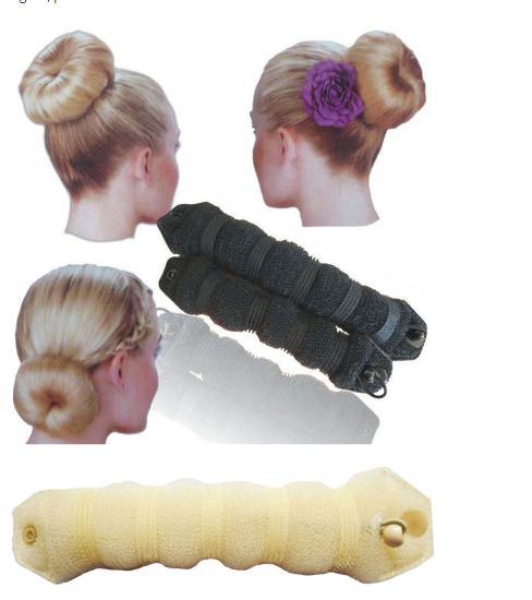 New Fashion Hot 3 Colors Hair Styling Dount Magic Sponge Bun Ring Maker Former Twist Tool Hair Disk Elastic Hair Bands Jewelry