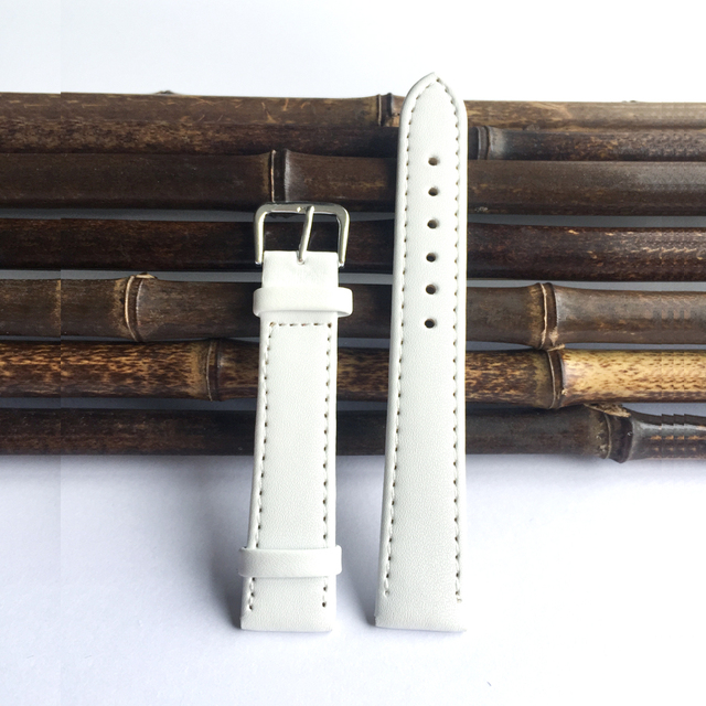 2015  12mm to 24mm white pu leather strap, fine workmanship Straps for watches men, Watchband 22mm men's watches