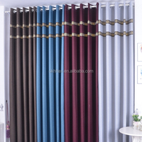 Floral design blackout lined thermal hotel curtain