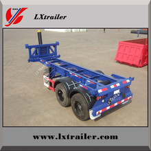 China 2 axles 20ft tipping trailer for ISO containers