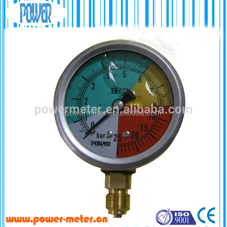 stainless steel cover pressure gauge manometer with customized dial plate china supplie