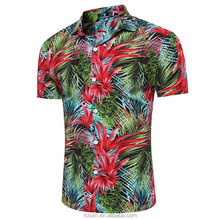 Men's Short Sleeve Shirts Printed Hawaii Short Sleeve Button Down Shirts For Man