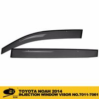 INJECTION DOOR VISOR FOR TOYOTA NOAH 2014 Window Vent Visor Deflector Rain Guard (Dark Smoke) 4-pc Set