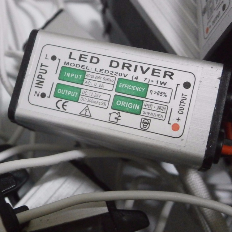 Waterproof led driver 4-7x1W constant current 300mA power supply