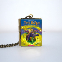 HP and The Half Blood Prince Book Locket Necklace keyring silver & BRONZE tone VISION 6