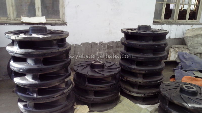 Slurry pump spare parts,rubber lined wet parts
