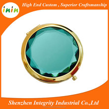 New promotional gifts various color round shape metal pocket cosmetic mirror