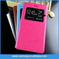 Newest product all kinds of flip pu leather case for samsung note 3 for 2015