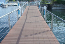 Outdoor use high density HDPE anti-UV wpc decking floor with competitive price