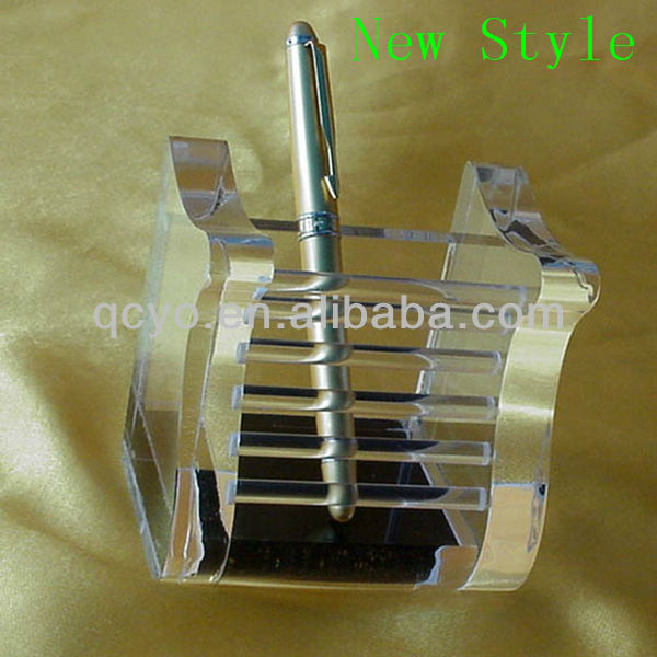 New style acrylic high quality plastic pocket pen holder
