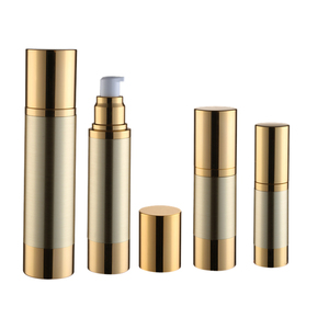 China suppliers cosmetic packaging 15ml 30ml 50ml 80ml 100ml 120ml gold lotion bottle essencial oil airless pump bottle