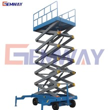 4-18m manual trailing mobile electro-hydraulic scissor lift platform on sale