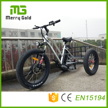 Aluminum alloy 3 wheel e bike trike fat tire electric tricycle with passenger seat