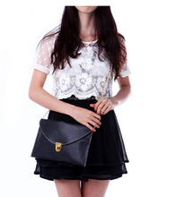 Hot selling ladies top quality small clutch bags Colorful envelope handbag