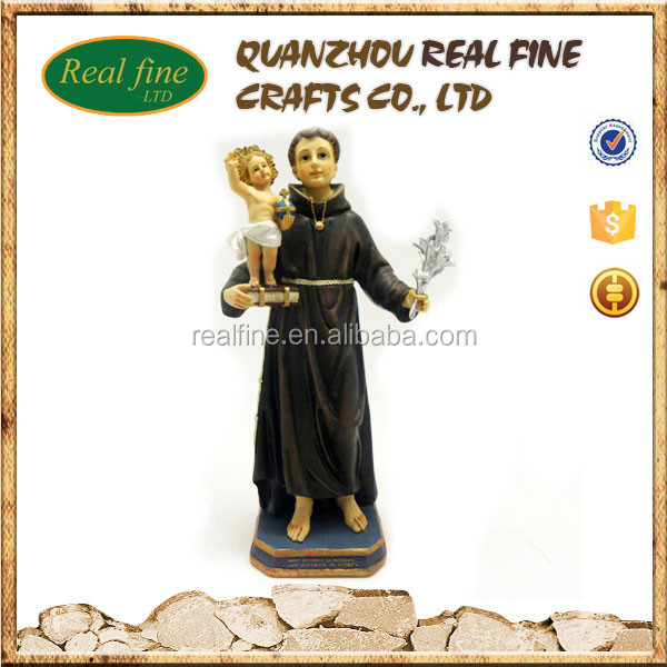 Hotting custom resin baby Jesus saint statues st anthony