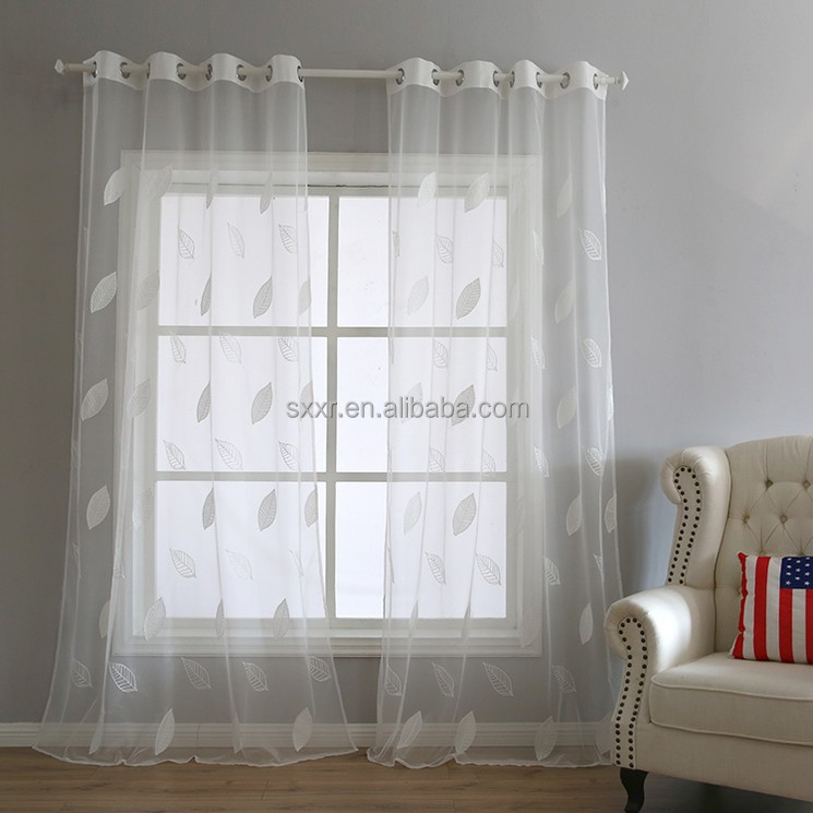 Fancy Design type of office window blackout voile curtain